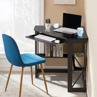 Link to VECELO Corner Office Desk L-shaped Computer/ Gaming/ Laptop  Corner Office Desk - Natural Similar Items in Computer Desks