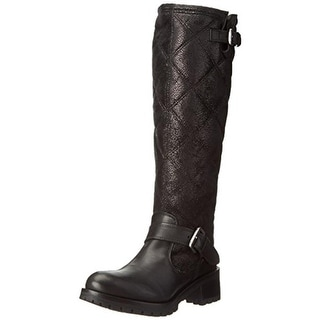 Bronx Womens Faye Ray Snow Boots Leather Quilted