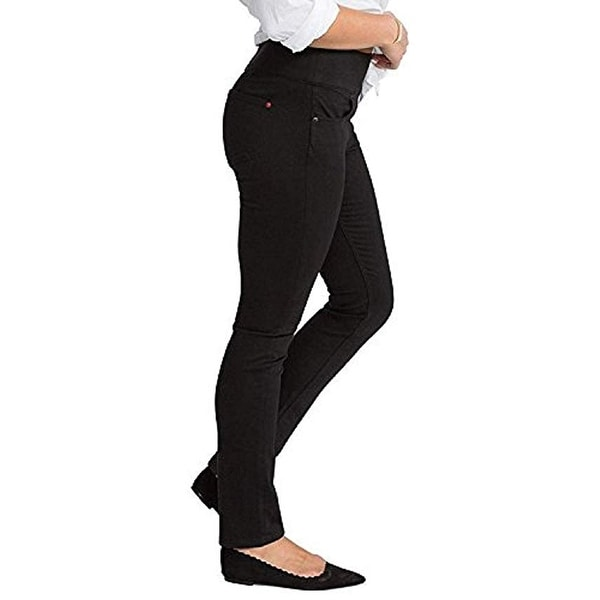 270009767dab94 Shop SPANX Womens Signature Straight High Rise Side Zip Straight Leg Jeans,  Black, 24 - Free Shipping Today - Overstock - 26235687