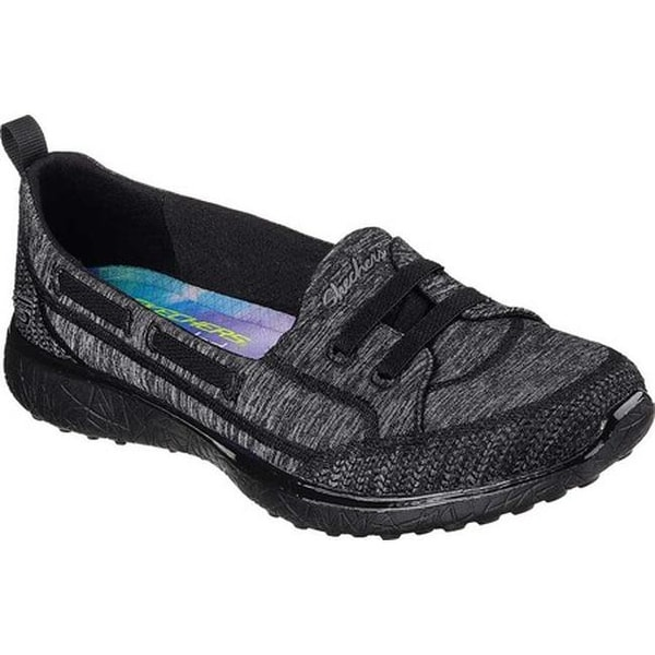 4a1e5980543b Shop Skechers Women s Microburst Topnotch Walking Slip-On Black - On Sale -  Free Shipping Today - Overstock - 17669832
