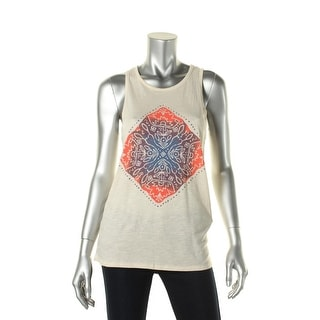 Lucky Brand Womens Boho Graphic Muscle Tank