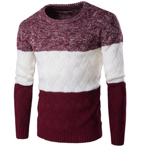 Men's Sweater Casual Fashion Pullover Sweater Assorted Color Knitwear