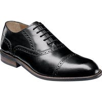 Florsheim Men's Pascal Cap Toe Oxford Black Leather