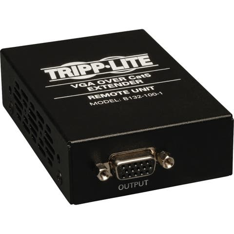 Tripp lite b132-100-1 vga over cat5/cat6 video extender receiver 1920 x 1440 1000 ft - Black