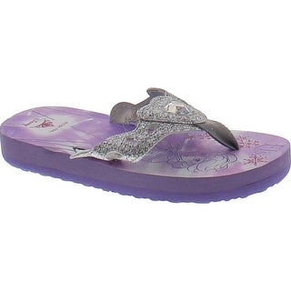 Stride Rite Anna And Elsa Eva Flip Flop Sandals - Purple