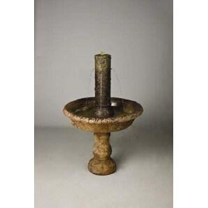 Tazza Fountain Finish: Standard Golden Moss, Size: Small