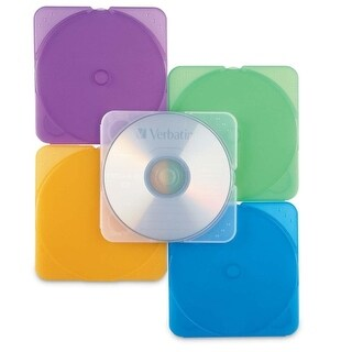 """Verbatim 93804 Verbatim CD/DVD Color TRIMpak Cases - 10pk, Assorted - Jewel Case - Book Fold - Plastic - Assorted - 1 CD/DVD"""