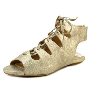 Splendid Anna Women Open Toe Leather Gold Gladiator Sandal