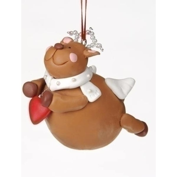 Club Pack of 12 Chubby Diva Reindeer Angel Christmas Ornaments #23113