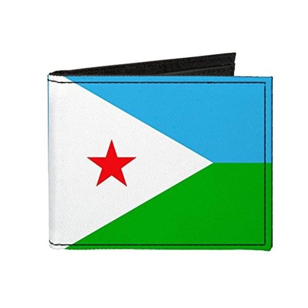 Buckle-Down Canvas Bi-fold Wallet - Djibouti Flag Accessory