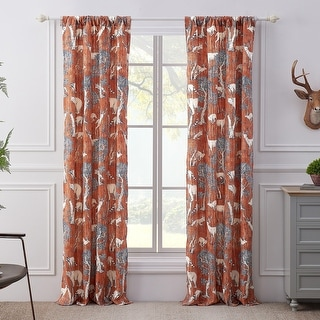 Link to Barefoot Bungalow Menagerie Curtain Panel Pair - 84 x 84 inches Similar Items in Window Treatments