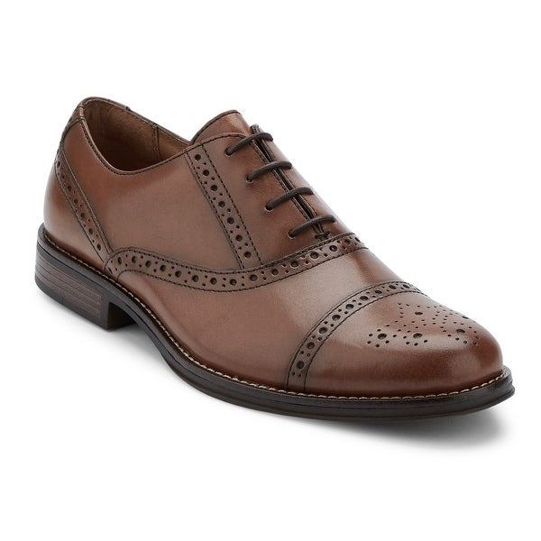 G.H. Bass & Co. Mens Woolf Leather Cap Toe Oxford Shoe