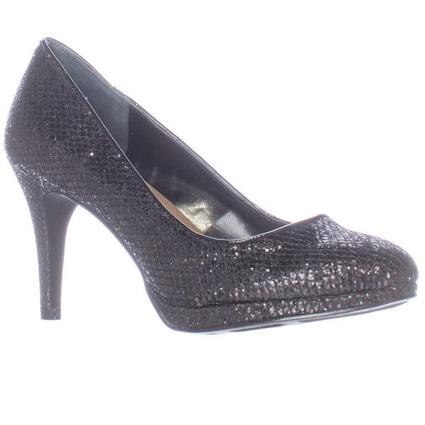 SC35 Nikolet Classic Round Toe Heels, Black Evening
