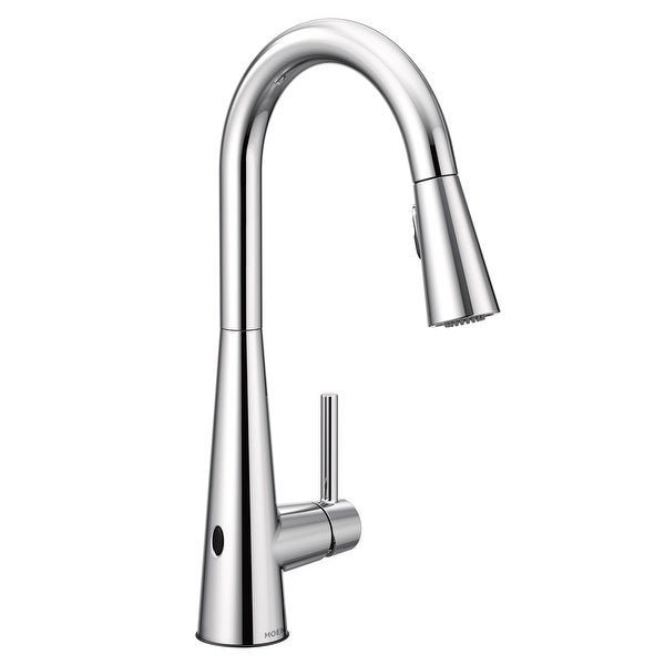 Shop Moen 7864EW Sleek 1.5 GPM Pull Down High Arc Kitchen Faucet With  MotionSense, Power Clean, And Reflex Technology   Free Shipping Today    Overstock   ...