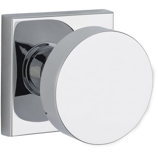 Baldwin FD.CON.CSR Modern Dummy Door Knob Set with Modern Square Trim from the Reserve Collection