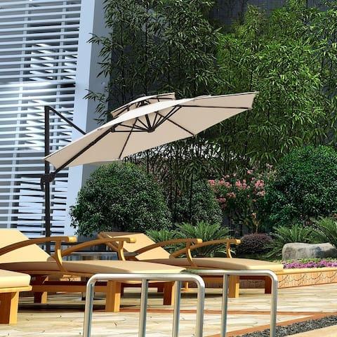 Zenova 360 Rotation Outdoor Parasol umbrella 11Ft balcony outdoor Roman umbrella