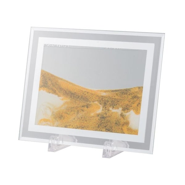 """8.5"""" Yellow and Gray Moving Sand Table Art - N/A"""