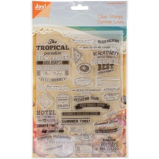 """Joy! Crafts Clear Stamps 8.25""""X5.75""""-Tropical Summer"""