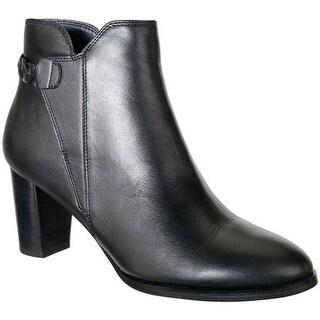 David Tate Women's Doran Ankle Boot Black Calfskin
