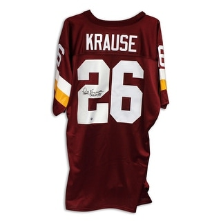 "Paul Krause Washington Redskins Autographed Maroon Jersey Inscribed ""HOF 98"""