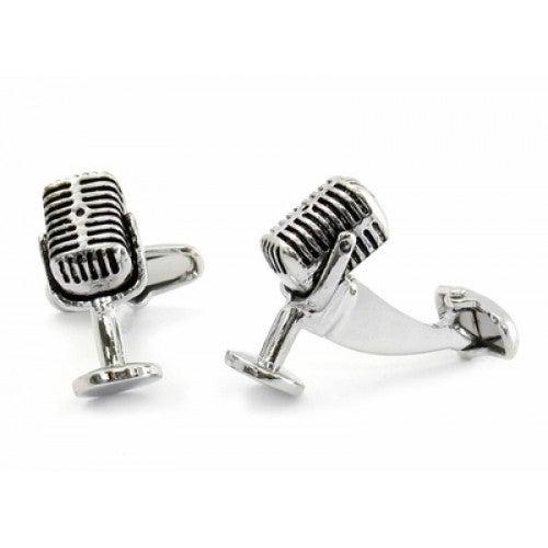 Microphone Commentators Broadcasters Singers Career Cufflinks