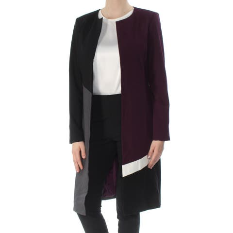 098dc91621d CALVIN KLEIN Womens Purple Topper Color Block Jacket Size  6