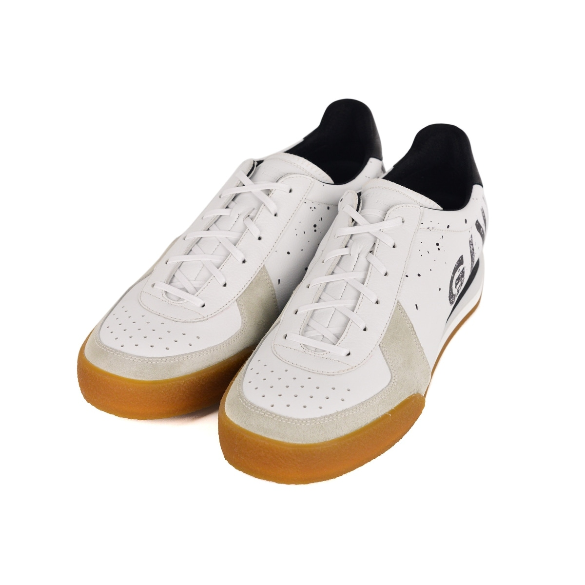 Givenchy Mens White Set 3 Logo Print Leather Tennis Sneakers