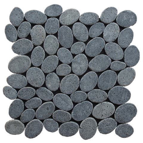 "Miseno MT-C3 Marble Pebble - 11-1/2"" x 11-1/2"" Pebble Floor and Wall Mosaic Tile -"