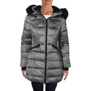 Noize Womens Amelie16 Puffer Coat Faux Fur Hooded