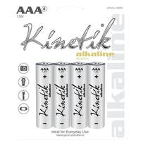 Kinetik 53833 Alkaline Batteries (Aaa, Carded, 4 Pk)