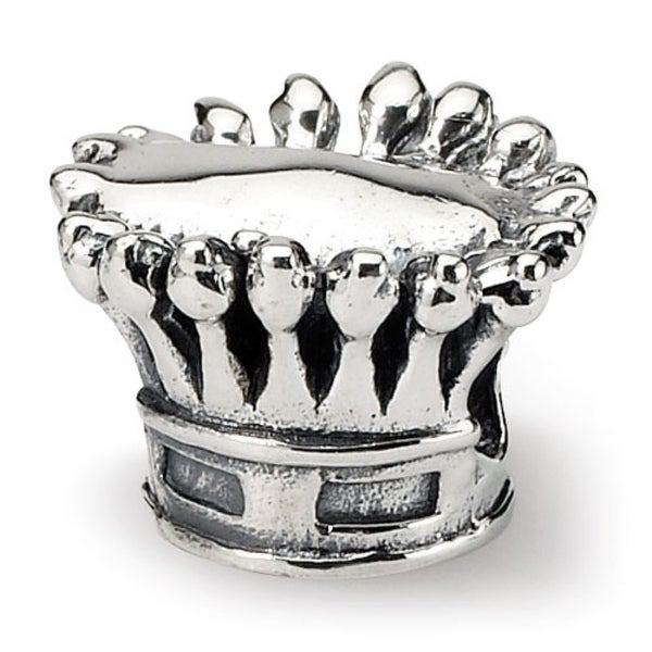 Sterling Silver Reflections Kids Crown Bead (4mm Diameter Hole)