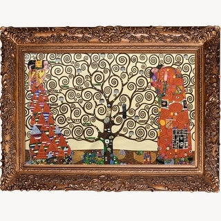 The Tree of Life, Stoclet Frieze, 1909 by Gustav Klimt Framed Hand Painted Oil on Canvas