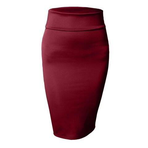 NE PEOPLE Women's Stretch Bodycon Midi Pencil Skirt [NEWSK10]