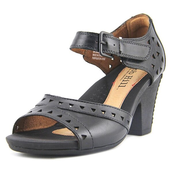 Cobb Hill Trista Women Open-Toe Leather Black Heels