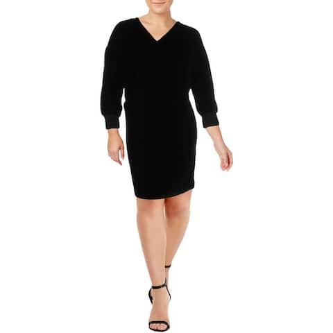 Lauren Ralph Lauren Womens Plus Radigan Cocktail Dress Evening Velvet