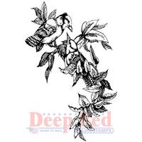 "Deep Red Cling Stamp 2""X3""-Blue Jays"