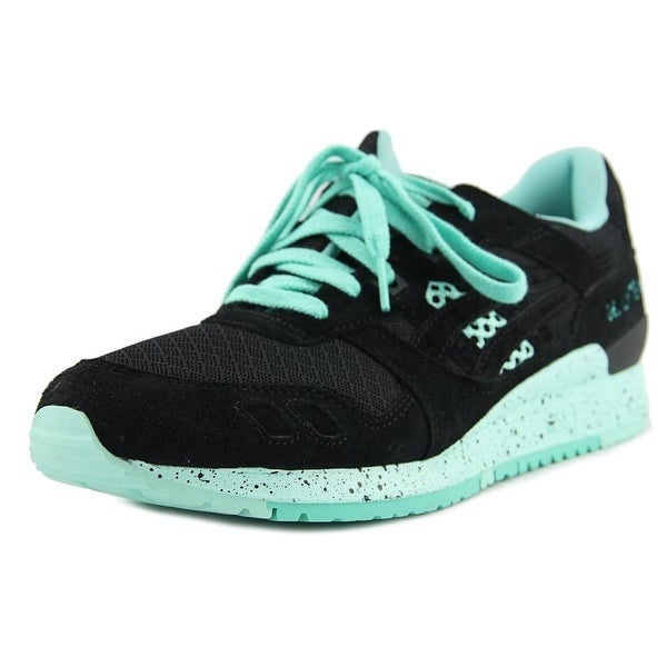 Asics Gel-Lyte III Men Round Toe Suede Black Running Shoe