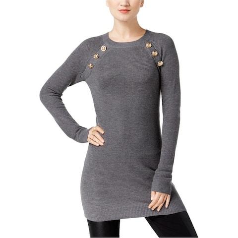 I-N-C Womens Embellished Tunic Sweater