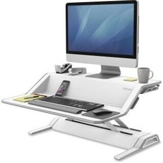 "Fellowes Lotus Display Stand - 35 Lb Load Capacity - 1 X Shelf(Ves) - 5.5"" Height X 23.5"" Width X 24.8"" Depth - Desktop"
