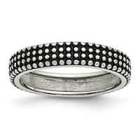 Chisel Stainless Steel Polished and Antiqued 5mm Band