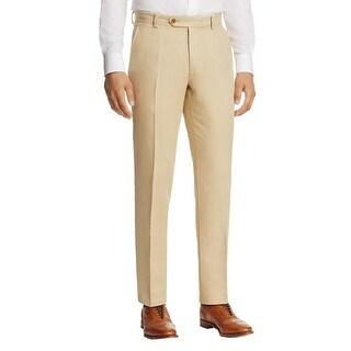 Brooks Brothers Mens Linen Pants Irish Linen Blend Flat Front - 30/32