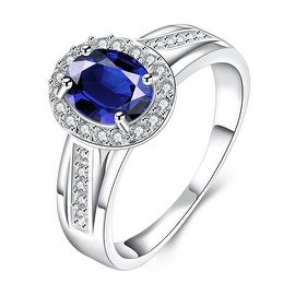 Mock Sapphire Jewels Covering Petite Ring