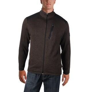 Greg Norman Mens Fleece Jacket Fleece Marled