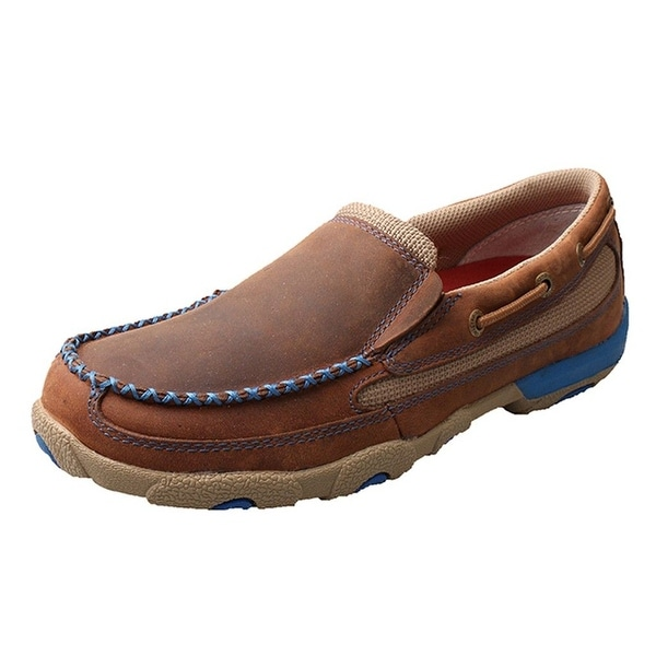 Twisted X Casual Shoe Women Driving Mocs Slip On Oiled Saddle
