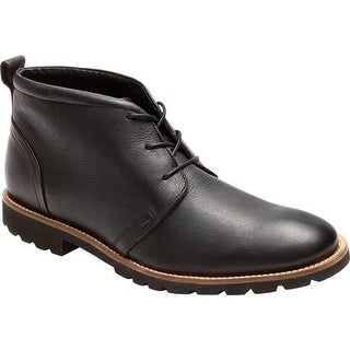 Rockport Men's Charson Lace Up Ankle Boot Black Leather