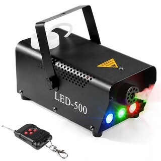 AGPtEK Celebrations Fog Machine, 500 Watt Portable, Wireless Remote Control &Colorful LED Light For Wedding, Holidays