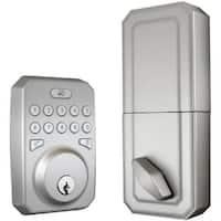 MiLocks(R) MIEQ-SLF-BN MIEQ Bluetooth(R) Dead Bolt (Satin Nickel)