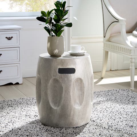 Ursa Indoor Contemporary Lightweight Concrete Accent Side Table by Christopher Knight Home