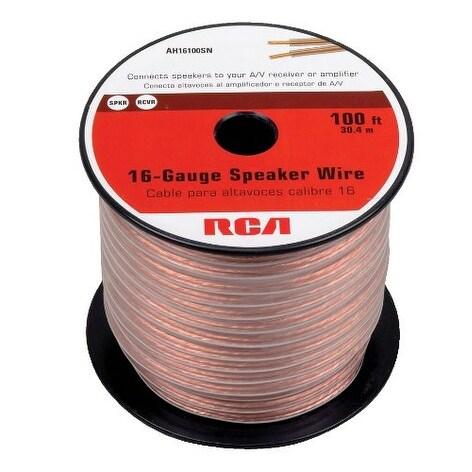 GE/RCA RCAAH16100SRR RCA AH16100SR 100 Ft. 16-Gauge Speaker Wire