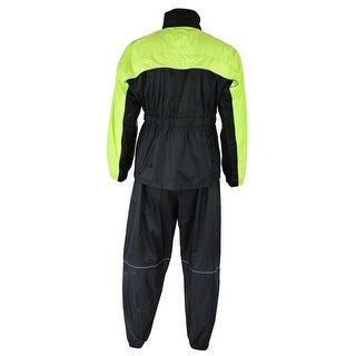 Waterproof Motorcycle Rain Suit (Hi-Viz Yellow)